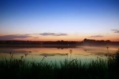 Good morning on the lake Stock Image