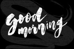 Good Morning Lettering Calligraphy Vector Text Phrase typography Chalkboard vector illustration