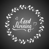 Good morning lettering Stock Images