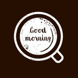 Good Morning lettering text Stock Image