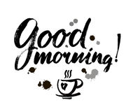 Good Morning lettering text Royalty Free Stock Photography