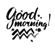 Good Morning lettering text Stock Photography