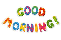 Good Morning letters Stock Photo