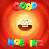 Good Morning ltitle concept card. Royalty Free Stock Images