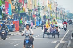 Good morning malioboro. Morning activity at maliobor, yogyakarta, indonesia Royalty Free Stock Photography