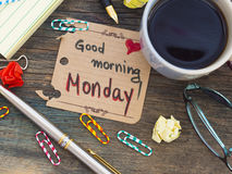 Good Morning Monday stock images