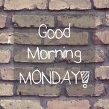 Good Morning Monday / Inspirational Background Design Stock Photography