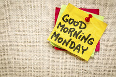 Good morning Monday - sticky note Royalty Free Stock Images
