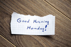 Good Morning Monday Royalty Free Stock Photos