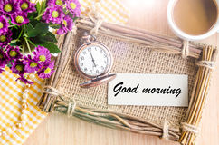 Good morning in morning time. Stock Photography