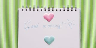 Good morning mother day concept. With hearts Stock Photos