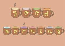Good morning mugs Royalty Free Stock Photography