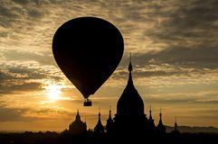 Good morning, Myanmar. You can see the balloon in Bagan (Myanmar) every morning Royalty Free Stock Image