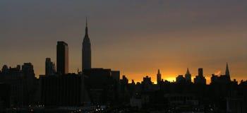 Good morning NY. Manhattan at sunrise Stock Photo