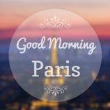 Good Morning Paris France Stock Photography