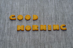 Good morning phrase Royalty Free Stock Images