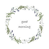 Good morning postcard Stock Photography
