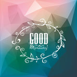 Good Morning Poster. Hand Made. Royalty Free Stock Image
