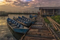 Good morning. Morning at rawa pening lake Stock Photography