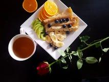 Good Morning! Romantic breakfast! royalty free stock image