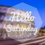 Good Morning Saturday Royalty Free Stock Photo