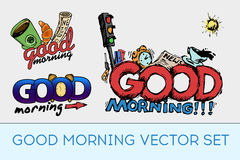 Good morning  set Royalty Free Stock Image