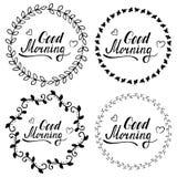 Good morning set Royalty Free Stock Image
