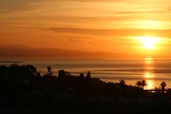 Good Morning Spain. Sunrise over the Port of Estepona, Spain Stock Photography