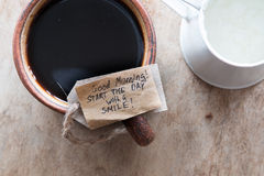 Good morning, start the day with a smile Stock Photo