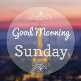 Good Morning Sunday. On Eiffle Paris blur background Royalty Free Stock Photography
