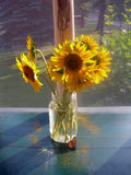 Good morning sunflowers stock images