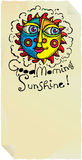 Good morning sunshine page with vivid sun. And friendly text Royalty Free Stock Photos