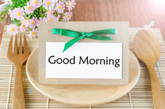 Good morning tag. Stock Photos