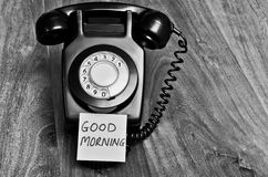 Good morning telephone concept Royalty Free Stock Images