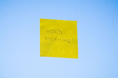 Good Morning text Royalty Free Stock Photography