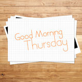 Good Morning Thursday Royalty Free Stock Photography