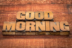 Good morning typography Royalty Free Stock Photos