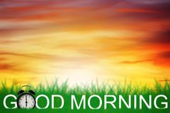 Good Morning and Wake Up Concept Stock Photography
