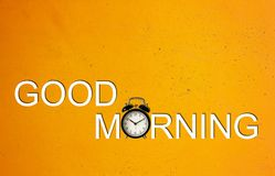 Good Morning and Wake Up Concept Stock Photos