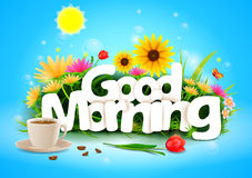 Good Morning wallpaper background Royalty Free Stock Photography
