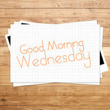 Good Morning Wednesday Stock Image