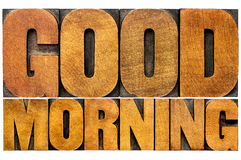 Good morning word abstract Stock Photos