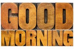 Good morning word abstract Stock Photos