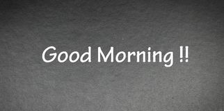 Good morning word on Black background Royalty Free Stock Image