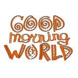 Good morning world. royalty free illustration