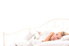 Good morning for young woman Royalty Free Stock Photography
