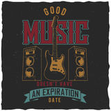 Good Music Poster Royalty Free Stock Images