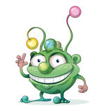 Good-natured Green Monster Royalty Free Stock Images