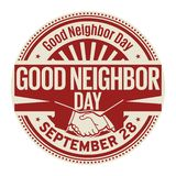 Good Neighbor Day, September 28. Rubber stamp, vector Illustration Stock Illustration