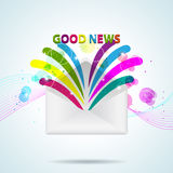 Good News. Vector picture with letter and Good News Royalty Free Stock Photo
